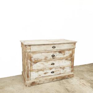 Commode-Blanche-bois-vintage-meuble-ancien-meuble-de-metier-patine-ceruse-blanc-2