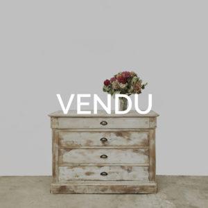 Commode bois ancienne-Blanche-bois-vintage-meuble-ancien-meuble-de-metier-patine-ceruse-blanc-1