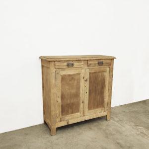 Buffet-parisien-bois-brut-meuble-de-metier-brocante-ancien